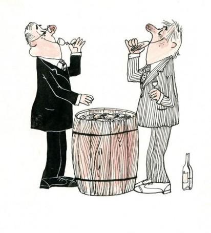 """""""Kwaszonki warzywne"""", ilustracja do książki Z. Zawistowskiej 'Warzywa wkuchni ispiżarni', 1989 r."""