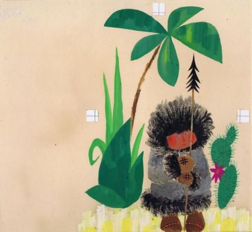 """""""Globus wproszku"""", 1967 r., ilustracja do książki Wiktora Woroszylskiego"""