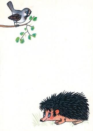 """Jeż, ilustracja do książki """"Zwierzęta Pana Brzechwy"""""""