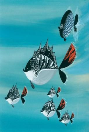 """""""Jedziemy nad morze"""", ilustracja do książki Wandy Chotomskiej"""