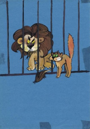 Untitled (Lion and Cat)