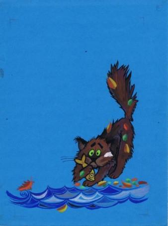 """""""Tufo – ryży pirat"""", ilustracja do książki Georgija Konstantinowa, 1989 r."""