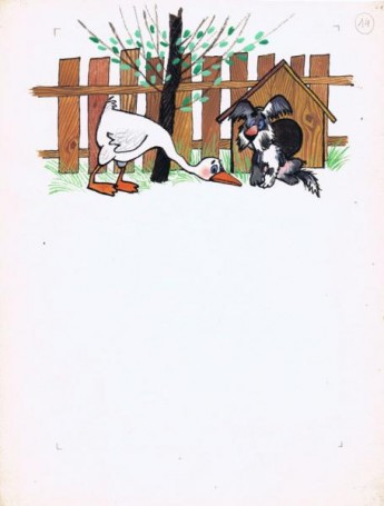 Untitled ( Goose and dog)