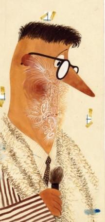 Bez tytułu, ilustracja do książki (autoportret)