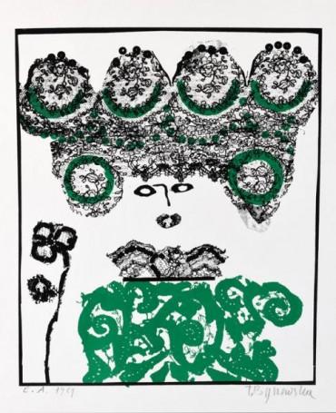 Bez tytułu, (Dama zkwiatami we włosach), 1984 r.