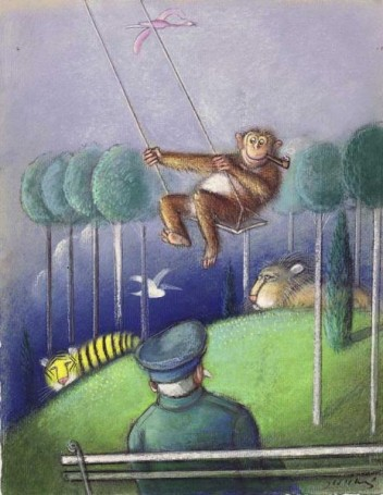 Untitled (Monkey on aswing)
