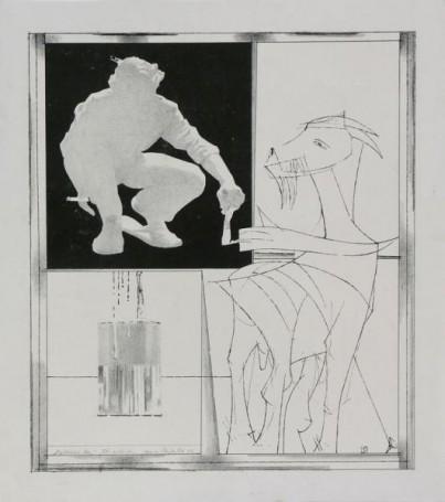 Malowanie kozy, 1975 r.