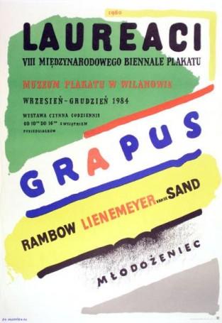 Laureaci VIII Międzynarodowego Biennale Plakatu, 1984 r.