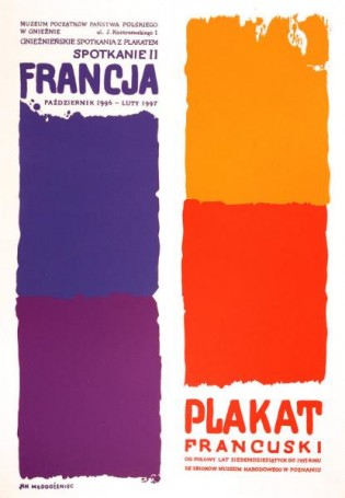 Plakat francuski, 1996 r.