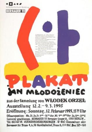 Plakat -Jan Młodożeniec, 1995