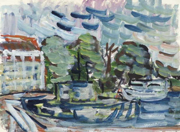 Landscape of Swinoujscie harbor, 1972