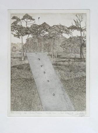 Leszek Rózga, Pejzaż wiosenny zdrogą, 1972 r.