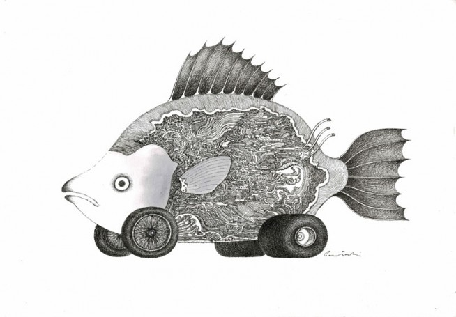 Untitled (Fish with the wheels), Jacek Gawłowski