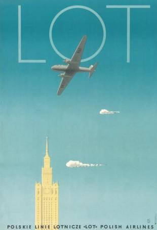 Tadeusz Trepkowski, Polskie Linie Lotnicze LOT Polish Airlines, reprint 2019 r., Reprinty Polska Szkoła Plakatu
