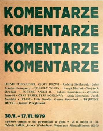 Komentarze, 1979