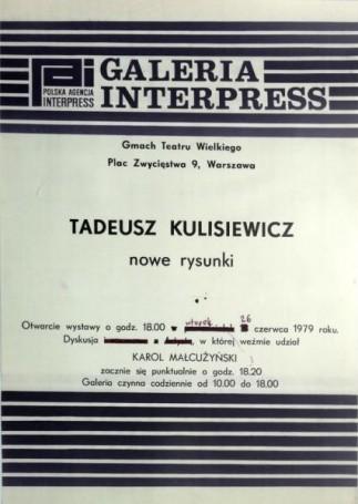 Tadeusz Kulisiewicz -nowe rysunki, 1979