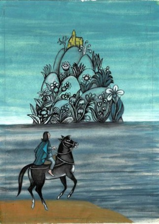 Gałązka zdrzewa słońca (1), projekt ilustracji do książki J. Ficowskiego