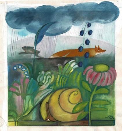 Bez tytułu (Łąka), ilustracja do 'Świerszczyka'