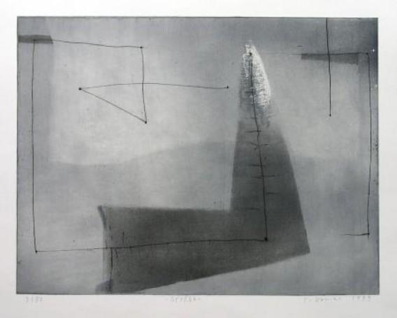 Tomasz Daniec Grożba 1999, akwaforta, akwatinta, 49x65cm, 700 PLN