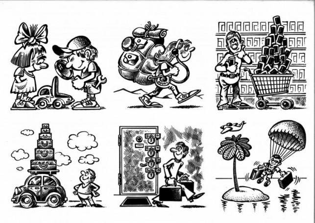 Bez tytułu, ilustracje do kalendarza Berlitz