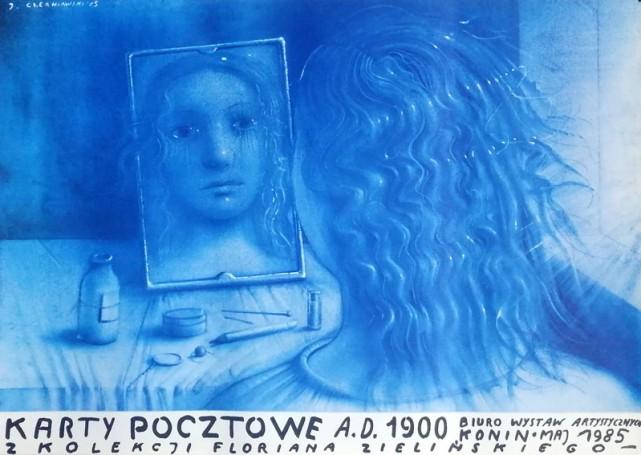 Karty pocztowe A.D. 1900 zkolekcji Floriana Zielińskiego, 1985 r.
