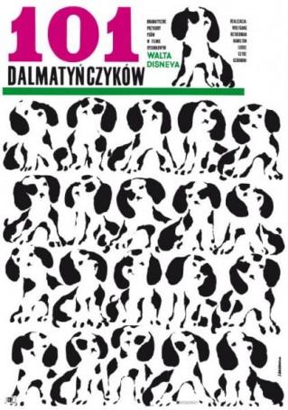 Hanna Bodnar, 101 Dalmatyńczyków, 1960 (2021 ), Reprinty Polska Szkoła Plakatu