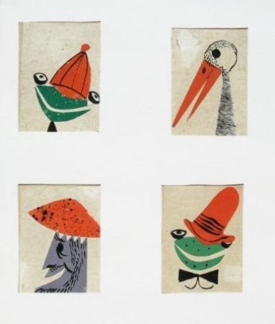 illustration: About frogs in red hats