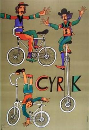 Cyrk rowerzyści, 1975 r.