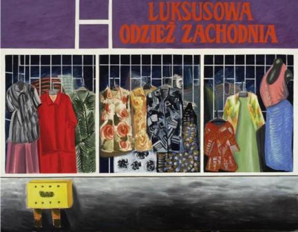 """""""Luksusowa odzież zachodnia"""", płótno, tempera zółtkowa, 170x220 2006"""