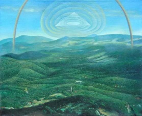 Henryk Waniek Tamto popołudnie 2001,olej, płótno, 73x60cm