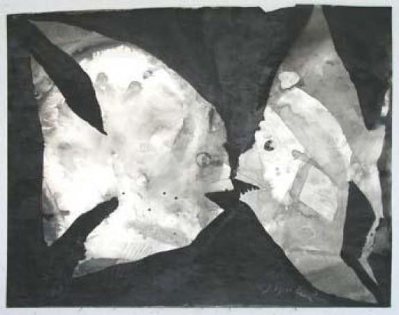 J.Wilkoń pastel, papier