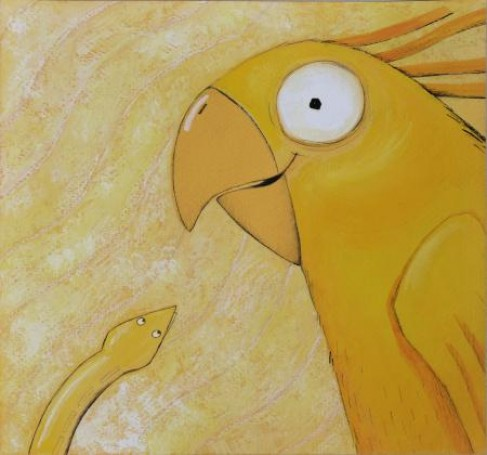Ilustracja: Żółta zasypianka