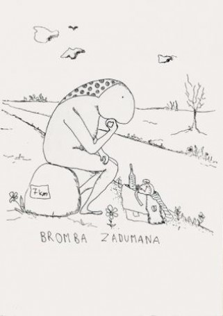 Ilustracja: Bromba and the others -Bromba zadumana