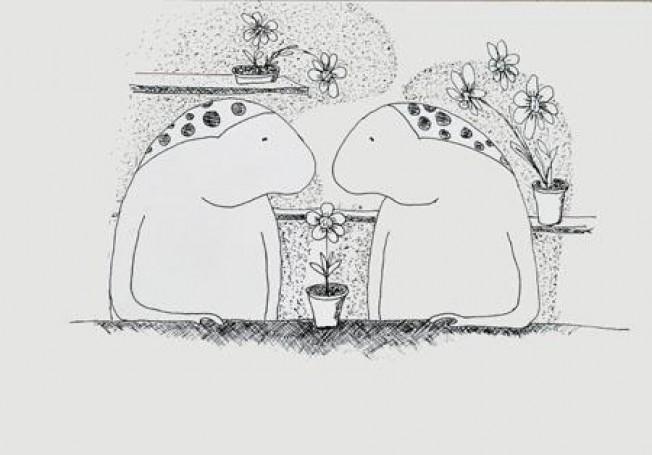 Bez tytułu, ilustracja do książki: Macieja Wojtyszki