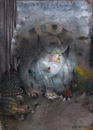 Bez tytułu, 1990 r., (Ilustracja: Woda żywa III)