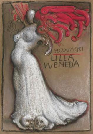 Projekt plakatu Lilla Weneda, 1707, rysunek, tektura, 50x35cm