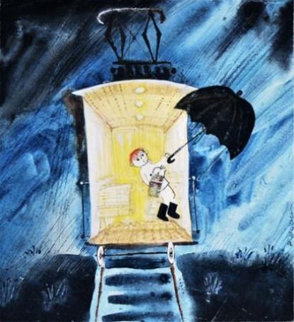 llustration: Stars under the rain (Gwiazdy pod deszczem), 1967
