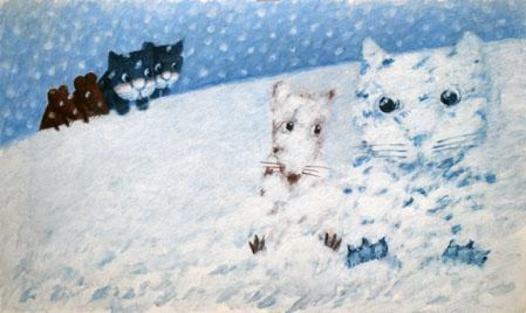 Cat and mouse -Ilustration, 1996