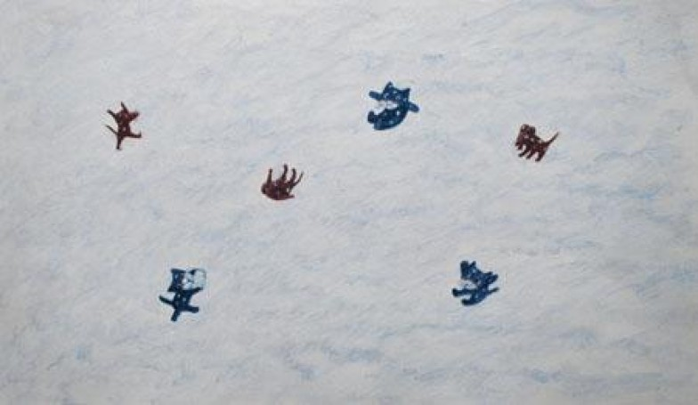 Kot imysz -ilustracja, 1996 r.