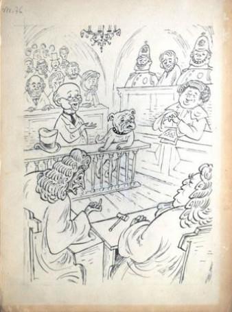 Ilustracja: Doktor Dolittle ijego zwierzęta, 1956 r.