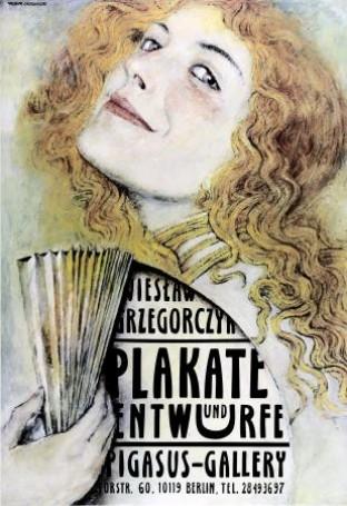 Wieslaw Grzegorczyk Plakate und Entwurfe Pigasus Gallery