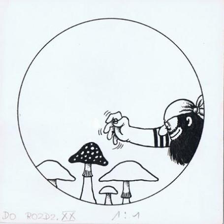 """ilustracja """"Burzliwe dzieje pirata Rabarbara"""" Wojciech Witkowski"""