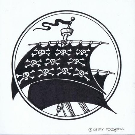 """ilustracja """"Ostry początek"""" wJeszcze dalsze burzliwe dzieje pirata Rabarbara"""