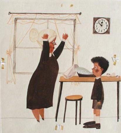 """""""Wiercipiętek"""", ilustracja do książki Krystyny Boglar, 1969 r."""