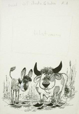 Osioł iwół, ilustracja (221)