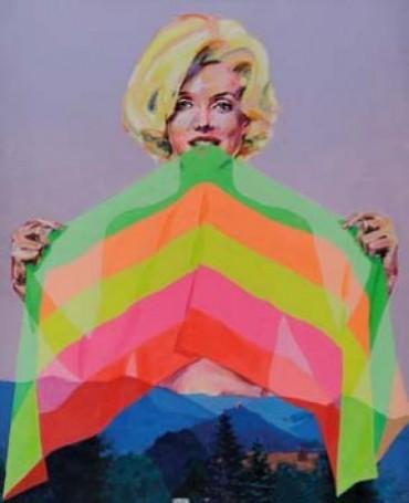Marilyn Monroe. Curtain, 2004, Andrzej Stroka