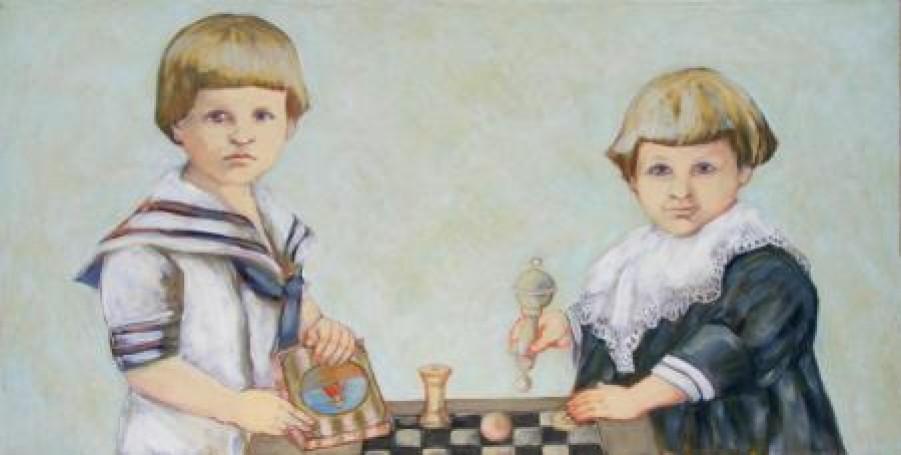 Dziecinny stolik (Dwaj panowie F.)