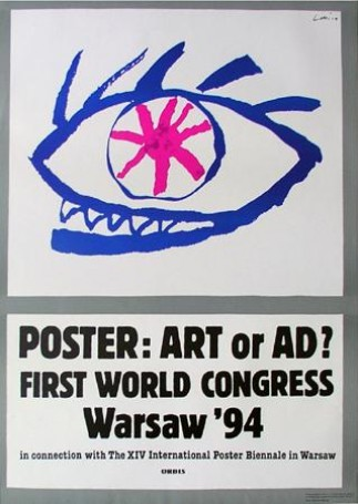 Poster: art or ad ? First World Congress Warsaw \\\\\\\'94