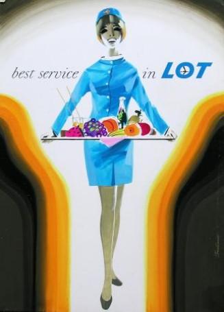 Projekt plakatu Best service in LOT, 1971 r.