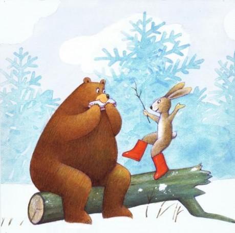 Niedźwiedź izająć -ilustracja do czasopisma 'Miś'